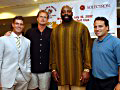 Chi Tony House with Former NY Giants QB and 'Bachelor' Jesse Palmer, NBA Analyst/Canada's National Team Coach Leo Rautins, NFL Great Ed 'Too Tall' Jones.